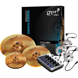 Zildjian Gen16 Acoustic/Electric Buffed Bronze Cymbal System