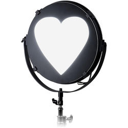 "FotodioX Heart Catchlight Mask for Pro FACTOR Jupiter Light (18"")"