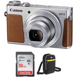 Canon PowerShot G9 X Digital Camera Basic Kit (Silver)