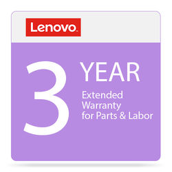Lenovo 3-Year Extended Warranty for Parts & Labor (Depot)