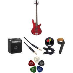 Ibanez GSR200 GIO 4-String Bass Starter Kit (Transparent Red)