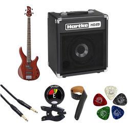 Yamaha TRBX174EW Electric Bass Starter Kit (Root Beer)