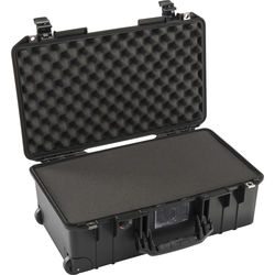 Pelican 1535 Air 2017 Wheeled Carry-On Case with Pick-N-Pluck Foam (Black)