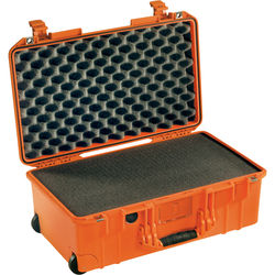 Pelican 1535 Air Wheeled Carry-On Case (Orange, with Pick-N-Pluck Foam2017)