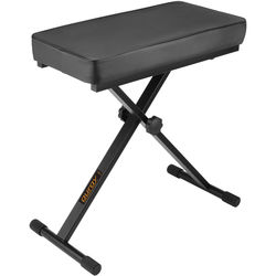 Auray PBS-24 X-Style Piano Bench (Black, Large)