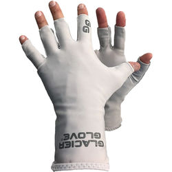 Glacier Glove Abaco Bay Sun Glove (Gray, Extra-Small/Small)
