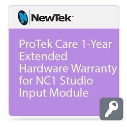 NewTek ProTek Care 1-Year Extended Hardware Warranty for NC1 Studio Input Module