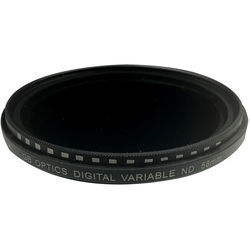GB Optics 58mm Slim Variable Neutral Density 0.3 to 2.7 Filter (1 to 9 Stops)