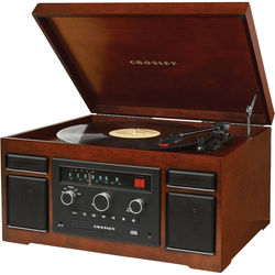 Crosley Radio Patriarch 3-Speed Turntable with Bluetooth (Mahogany)