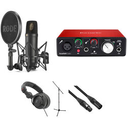 Rode NT1 Microphone with Software and Vocal Recording Setup Kit