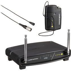 Audio-Technica ATW-901A/L System 9 VHF Wireless Unipak System with an Omnidirectional Lavalier Microphone