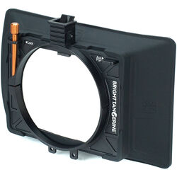 "Bright Tangerine Misfit Atom 4x5.65""/4x4"" Ultra Lightweight 2-Stage Clip-On Matte Box"