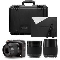 Hasselblad X1D-50c Medium Format Mirrorless Digital Camera and Lenses Field Kit (Black)