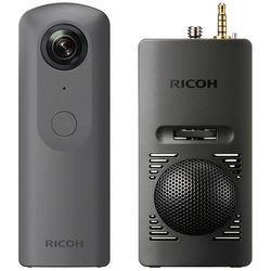 Ricoh THETA V 360 4K VR Camera Kit with TA-1 3D Microphone