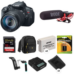 Canon EOS Rebel T5i DSLR Camera with 18-135mm STM Lens Video Kit
