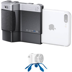 miggo Pictar Plus Camera Grip for iPhone 6 Plus/6s Plus/7 Plus/8 Plus/X & Android with Mini Tripod Kit