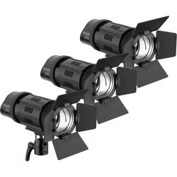 Genaray Contender LED Focusing Spot 3-Light Kit with Battery Module Kit (Daylight)