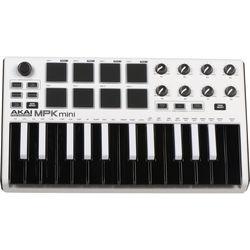Akai Professional MPK mini MKII - Compact Keyboard and Pad Controller (White)