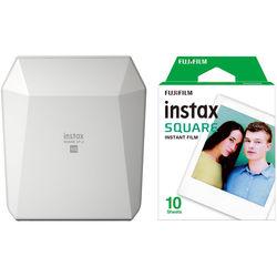 FUJIFILM INSTAX SHARE SP-3 Smartphone Printer with SQUARE Film Kit (White)
