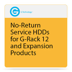 G-Technology No-Return Service HDDs for G-Rack 12 and Expansion Products