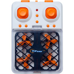 Top Race 2.4 GHz RC Mini Pocket Drone Quadcopter with Headless Mode