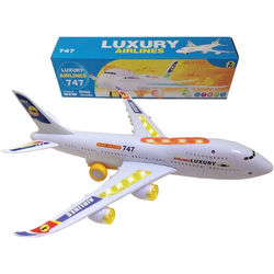 Top Race Toyze Bump-and-Go Boeing 747 Toy Airplane