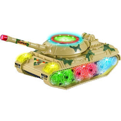Top Race Toyze Bump-and-Go Toy Military Tank
