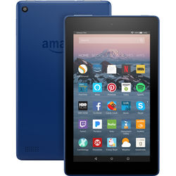 "Kindle Fire 7 Tablet with Alexa 7"" Display 8GB (Marine Blue)"