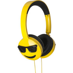 jam HX-HPEM02 Jamoji On-Ear Wired Headphones (Yellow, Too Cool)