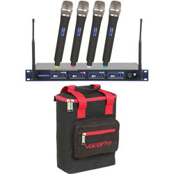 VocoPro UHF-5800 PRO 4-Channel UHF Wireless Handheld Microphone System