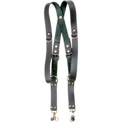 Funk Plus Removable Snap Back Dual/Single-Camera Leather Harness with D-Rings (Black)