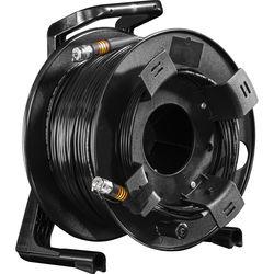 FieldCast 2Core Single-Mode Hybrid Fiber Optic Cable on Winding Drum (Heavy-Duty, 328')