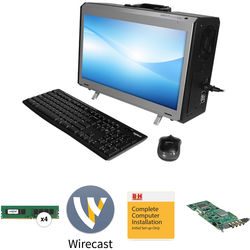 """B&H Photo PC Pro Workstation NextComputing Radius All-In-One 17.3"""" Portable Desktop Computer with Wirecast Pro 8"""