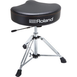 Roland Saddle Drum Throne with Rugged Vinyl Seat and Hydraulic Adjustment