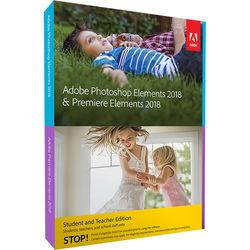 Adobe Photoshop Elements & Premiere Elements 2018 (Mac & Windows, Academic, Disc)