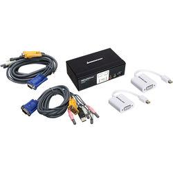 IOGEAR Miniview KVM Switch Kit with Two Mini DisplayPort Adapters