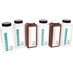 Jobo Scaled 1000mL Bottle Kit (4 Clear and 2 Brown)