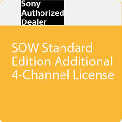 Sony SOW Standard Edition Additional 4-Channel License
