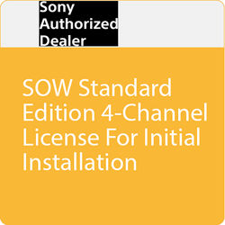 Sony SOW Standard Edition 4-Channel License for Initial Installation