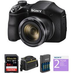 Sony DSC-H300 Digital Camera Deluxe Kit (Black)