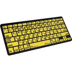 LogicKeyboard XL Print Bluetooth 3.0 Mini Keyboard (American English/Hebrew, Black on Yellow)