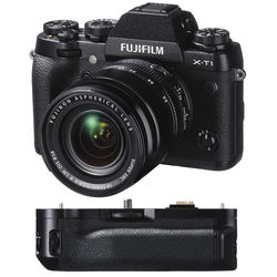 Fujifilm X-T1 Mirrorless Digital Camera with 18-55mm Lens and Battery Grip Kit