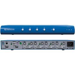 High Sec Labs SC42DHU-3 Secure 4-Port DVI to 2-Port HDMI Video KVM Combiner with fUSB Ports