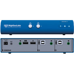 High Sec Labs SM20N-3 Secure 2-Port KM Switch