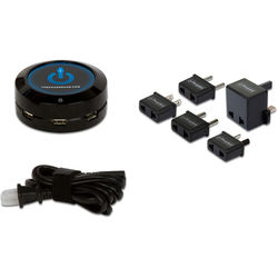 ChargeHub X5 5-Port USB SuperCharger International Travel Pack (Black)