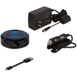 ChargeHub X7 7-Port USB SuperCharger Domestic Travel Pack (Black)