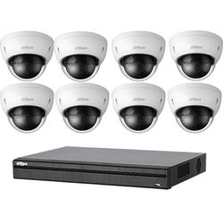 Dahua Technology BN481E82 8-Channel 8MP NVR with 8 Outdoor 3MP Dome Cameras Kit