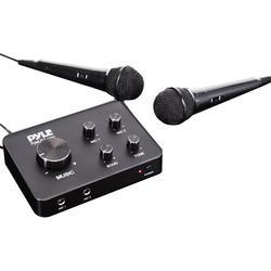 Pyle Pro PDWMKRHD20 Home Theater Karaoke Wired Microphone System
