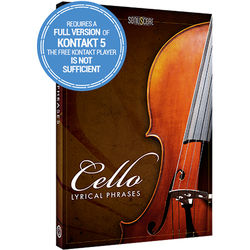 SONUSCORE Lyrical Cello Phrases - Virtual Instrument & Sample Library (Download)