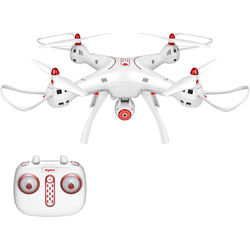 SYMA X8SW FPV Real-Time Quadcopter with 720p Wi-Fi Camera & 4-Channel Remote Control (Red/White)